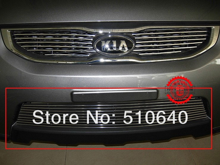 2012 KIA Sportage High quality stainless steel Front Grille Around Trim Racing Grills Trim(China (Mainland))