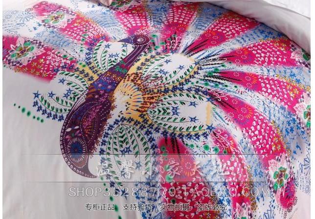Peacock Comforter King Size: Aliexpress.com : Buy Peacock Bird Print Hot Pink Bedding