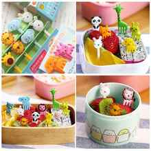 10pcs Cute Lunch Box Bento Accessory Decor Animal Food Fruit Picks Forks(China (Mainland))