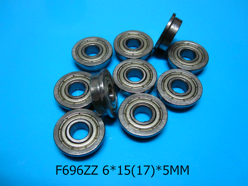 F696ZZ Flange bearings Free shipping 696 F696Z F696ZZ 6*15&17*5 mm chrome steel deep groove bearing(China (Mainland))