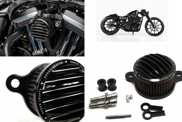 Rough Crafts Air Cleaner + Intake Filter system For HD Harley Sportster 2004-2014 XL(China (Mainland))
