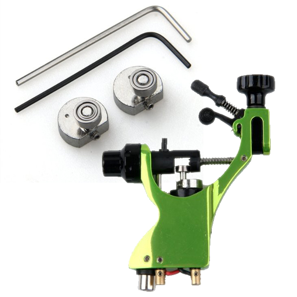 Tattoo Machine Green Machine Zinc Alloy Silent Rotary Engine(China (Mainland))