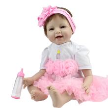 55 см Силиконовые Винил Возрождается Куклы adora чаки Ручной Дети Принцесса Детские Игрушки bonecas bebe bjd куклы reborn