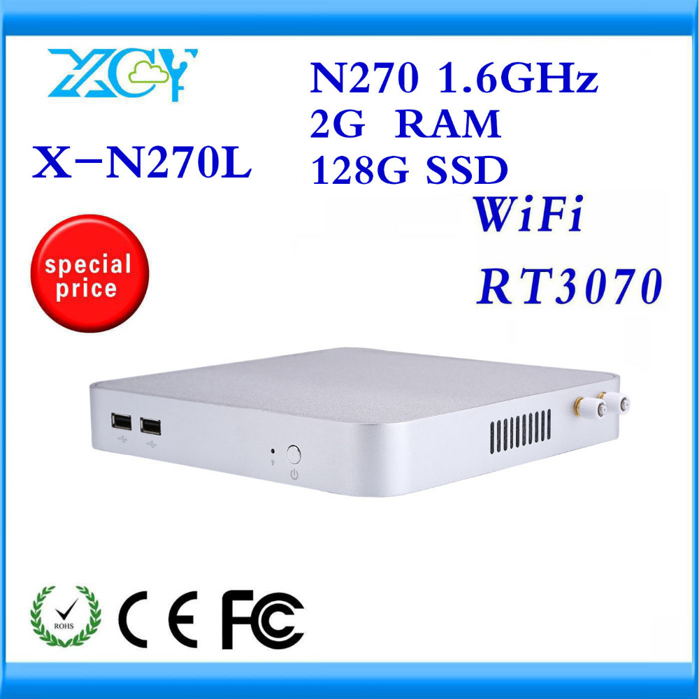 XCY DUALCORE MINI COMPUTER INTEL N270L WITH 2G RAM 128G SSD WITH FANLESS SILVER PLATIC CASELOW HEAT LESS NOISE WITH GOOD QUALITY(China (Mainland))