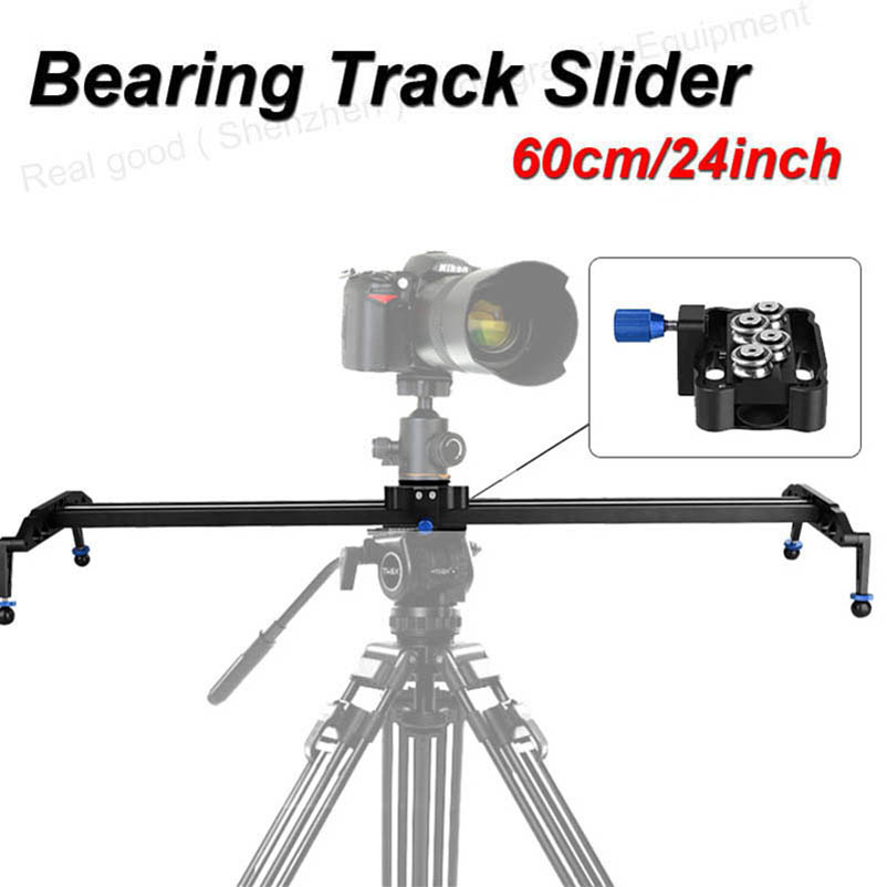"60cm/24"" Ball Bearing DSLR Camera Slider Dolly Track Video Stabilizer for Canon Nikon Sony DSLR Camcorder Max Load 17.7lbs/8kg(China (Mainland))"