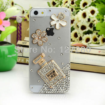 free shipping perfume rhinestone mobile phone accessory mobile phone case for phone 4 /4s / 5;for carrying case iphone 4