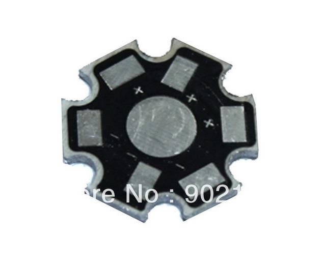 100pcs/lot 1W 3W 5W High Power LED Heat Sink Aluminum Base Plate Black Lamp beads radiator  Free Shipping