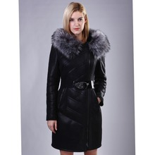 Factory direct supplier Leather jacket fox fur collar women's 2016 winter fur coat new large size coat fashion Sheep thick(China (Mainland))