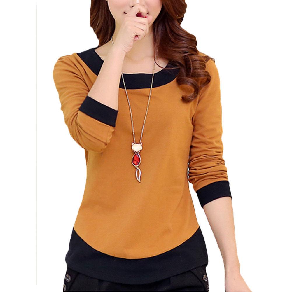 New Autumn 2016 Woman <font><b>T</b></font> <font><b>Shirt</b></font> <font><b>Long</b></font> <font><b>Sleeved</b></font> Casual Slim <font><b>Basic</b></font> <font><b>shirt</b></font> O-neck Women Tshirt Plus size 2XL Camisa Feminina Ladies Tops