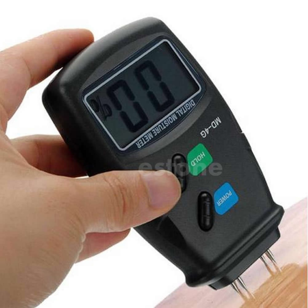 A96 2016 newest Digital 4 Pin LCD Wood Moisture Humidity Meter Damp Detector Tester 5 40