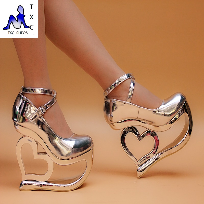 2015 wedge shoes high heel 15cm platform 7cm fashion