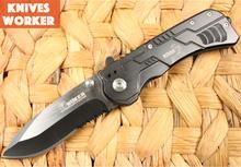 Nueva llegada Boker 073 cuchillo plegable que acampa cuchillos tácticos cuchillo para la caza de la supervivencia 440 de aluminio de la manija herramienta de utilidad OEM