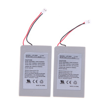 New Black 2X 3.7v 1800mAh Battery Pack For Sony PS3 controller P4PM(China (Mainland))
