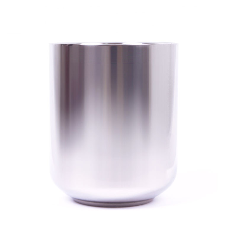 New Hot Stainless Steel Men's Double Smooth Layer Shave Soap Cup Shinning Mug Bowl #55449(China (Mainland))