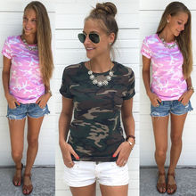Buy 3XL T shirt Women 2017 Clothing Summer Casual T-shirt Plus Size Tops Ladies O-Neck Short Sleeve Camouflage Print T-shirt Clothes for $7.98 in AliExpress store