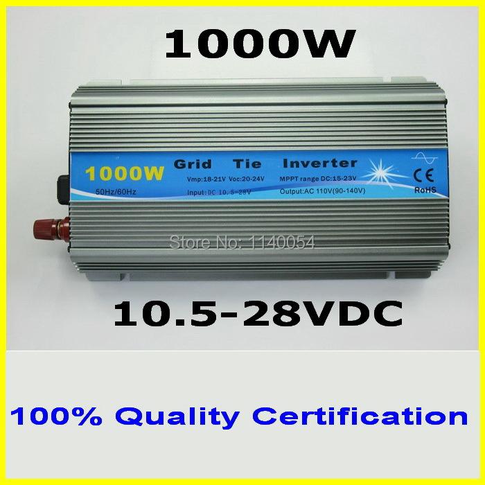 1000W MPPT grid tie inverter,10.5-28VDC to AC120V or 230V pure sine wave output solar wind power inverter,2year quality warranty(China (Mainland))