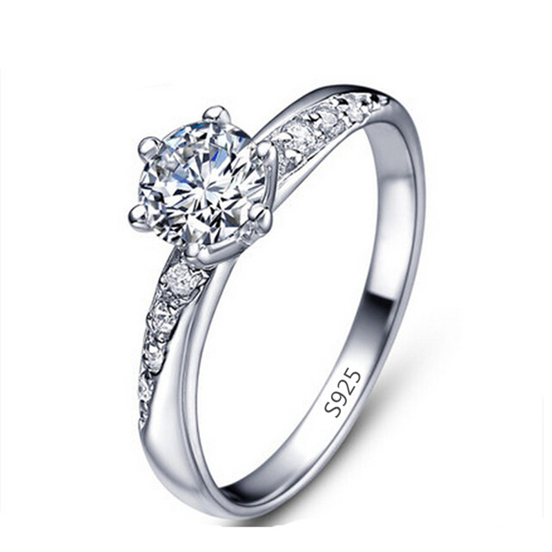 free shipping white gold plated cz jewelry ring
