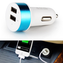5V 3.1A  2 Port New  For Samsung For HTC For MOTO Car-styling Adapter Auto detector Accessories Dual USB Car Charger(China (Mainland))