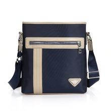 New men Korean pure single Canvas Leather high-grade Business Zipper Handbags Men Messenger male Shoulder Bag for Man Briefcase(China (Mainland))