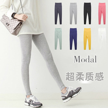 Pregnant belly support Leggings Pants Leggings Korean women modal autumn high waist thin long pants size(China (Mainland))