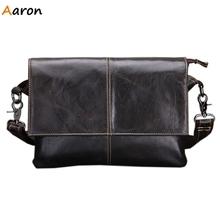 Аарон new-стильные засов флип — открыть крышку мужской сумки на ремне, Crazy-лошадь кожи мужская сумка, Съемный плечевой ремень мужчины сумку