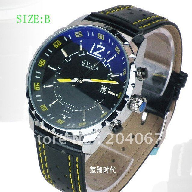 2014 NEW YEAR GIFT WATCH FOR MAN LEATHER WATCH FREE SHIPPING W8445