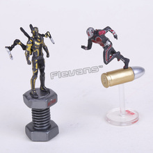 Free shipping 2pcs/set Small Marvel Super Hero Ant-Man Ant Man PVC Action Figure 6.5CM