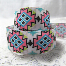 1'' (25mm) Suppliers printing geometric ribbon hairbow accessories gift decoration packaging belt clothes ribbons 100 yards/roll(China (Mainland))