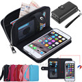 Multi function Wallet Case PU Leather Cover For Apple iphone 5 5S Case Removable Back Case