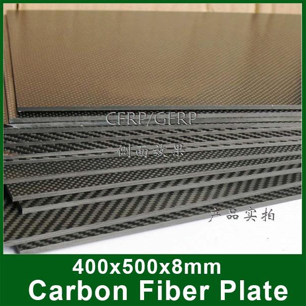 400x500x8mm, High Strength 3K Carbon Fiber Plate, 100% Carbon Fiber, Usd for DIY Rober, Aircraft, and other Machines.(China (Mainland))