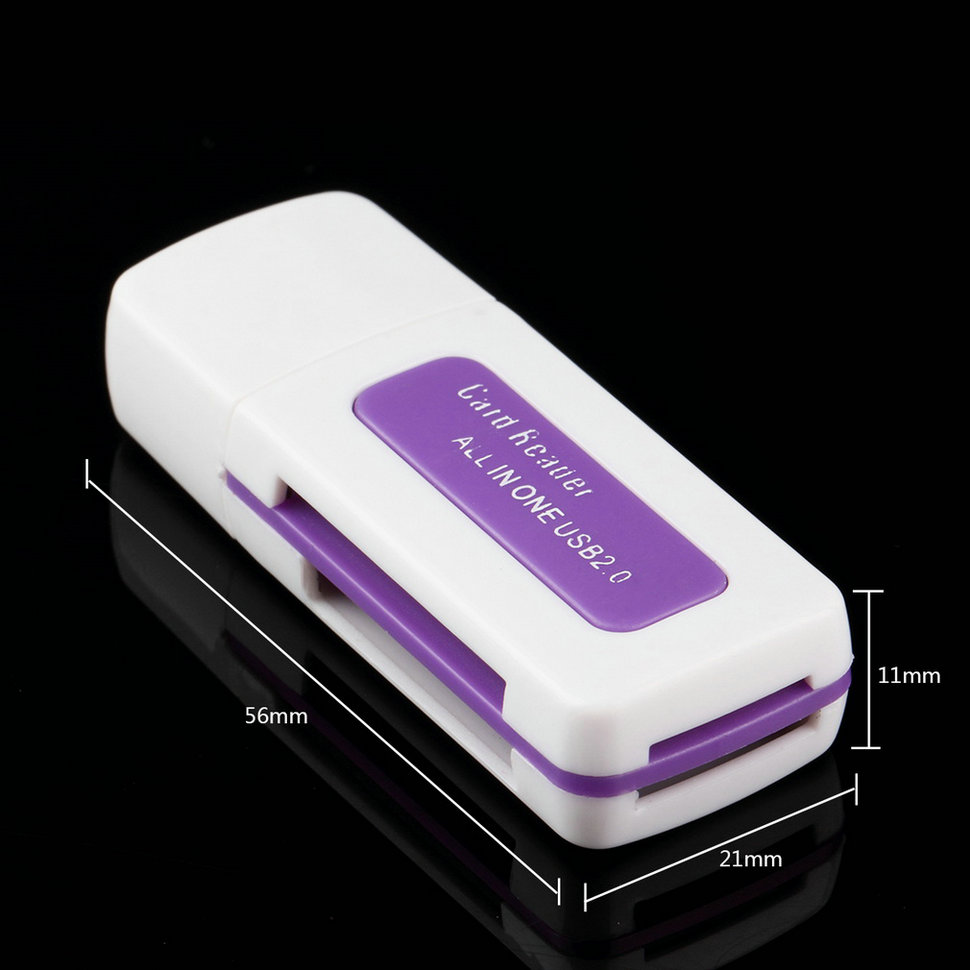 1 pcs All In One Multi-card Reader w/ 3 Ports USB 2.0 Hub Combo for SD/MMC/M2/MS MP Free Shipping<br><br>Aliexpress