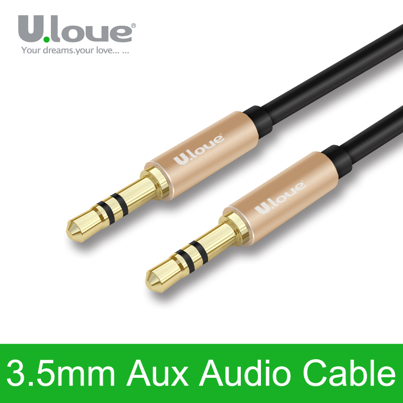 Ulove 3.5mm to 3.5 mm Jack Audio Cable Male to Male Stereo Auxiliary Cord aux cable for iPhone MP3/4 headphone beats speaker car(China (Mainland))