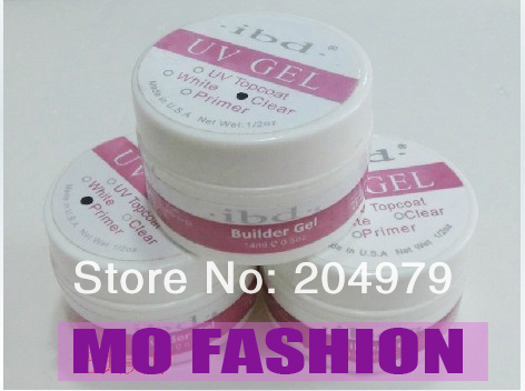 2013 hot sale IBD uv nail gel ibd builder gel 1/2oz clear 5pcs/lot 1061