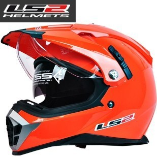 Free shipping New LS2 MX455 Motorcycle Double visor Motocross security inflatable airbags Off Road Helmet(China (Mainland))