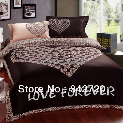 Hot Sale Queen Size Bedding Sets Bedclothes Duvet Covers Bed Sheet The Bed Linen Leopard Print