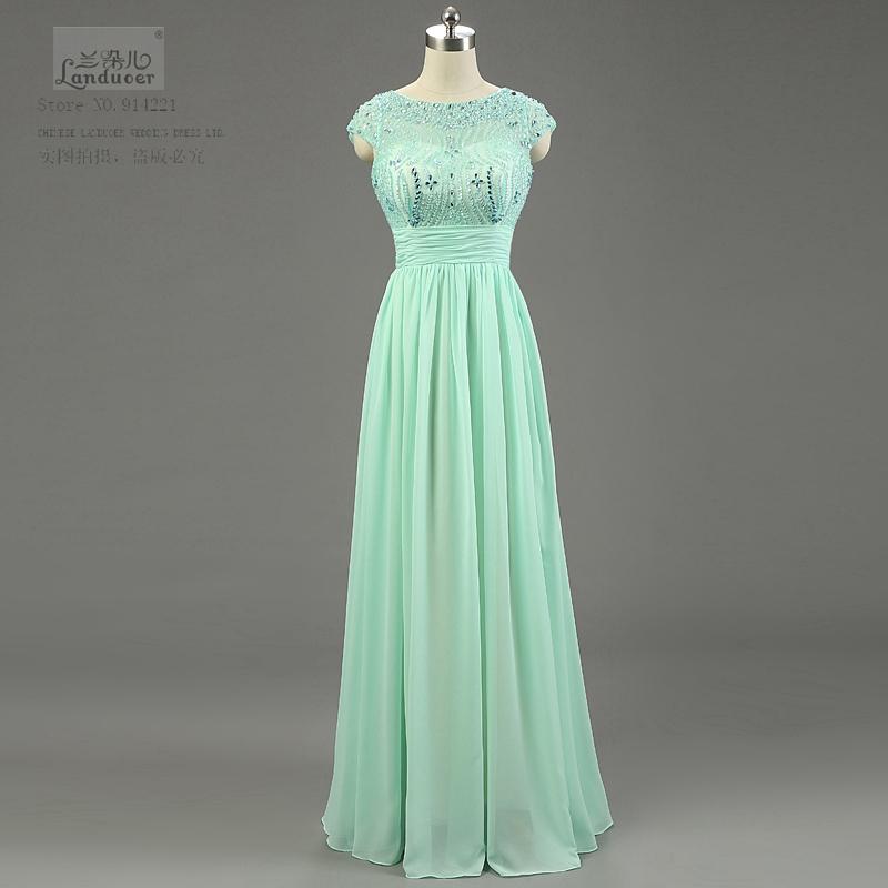 El Nuevo Fashion vestido de fiesta Noble elegant women Crystal prom dress sexy lady A line sleeveless chiffon long dresses 2015(China (Mainland))