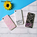 Victoria Lace Relief Phone Case For iPhone 5 5s Se 6 6s 6 Plus 7 7Plus