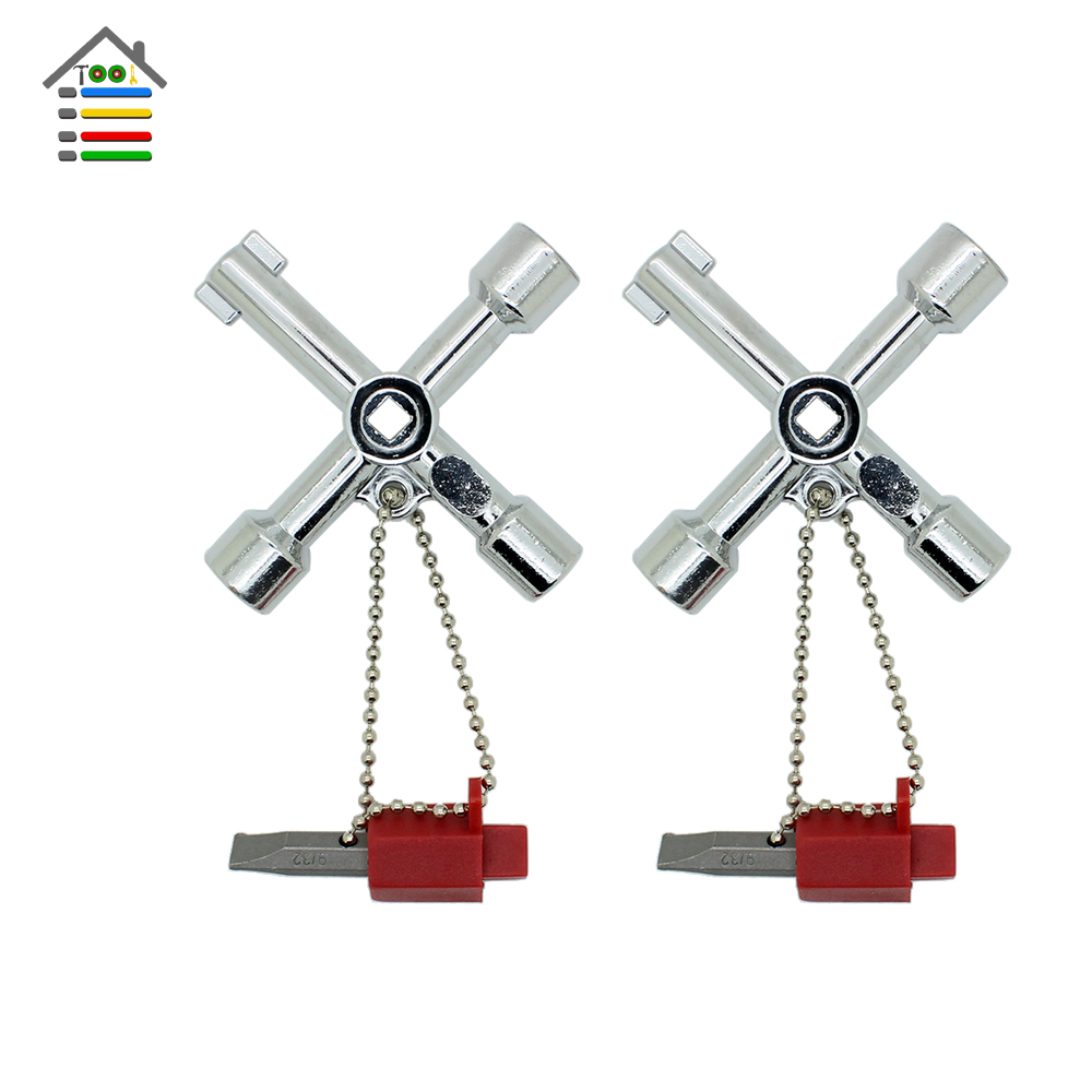 Free Shipping 2pc 4 Way Universal Cross Triangle KEY for Train Electrical Elevator Cabinet Valve Alloy Triangle/Square(China (Mainland))