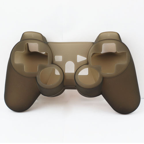 Clear Soft Silicone Skin Case Combo for Sony PS3 Controller Black