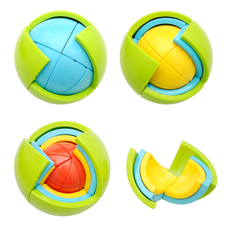 1 Pcs Hot Sale Early Educational Toys 3D Intelligence Ball Game Puzzle 3D Puzzle Ball Intelligence Maze For Children kids Gifts(China (Mainland))