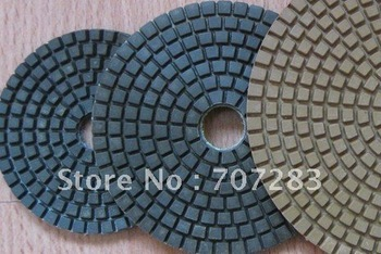 """7"""" dry diamond polishing flexible pads, very popular in American and other european country"""