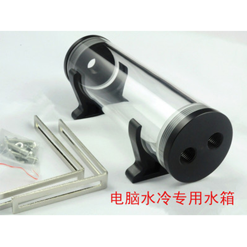 60mm Cylindrical Acrylic Water Tank for Computer Water Cooling Cooler With Installation Accessories DIY Water Tank(China (Mainland))