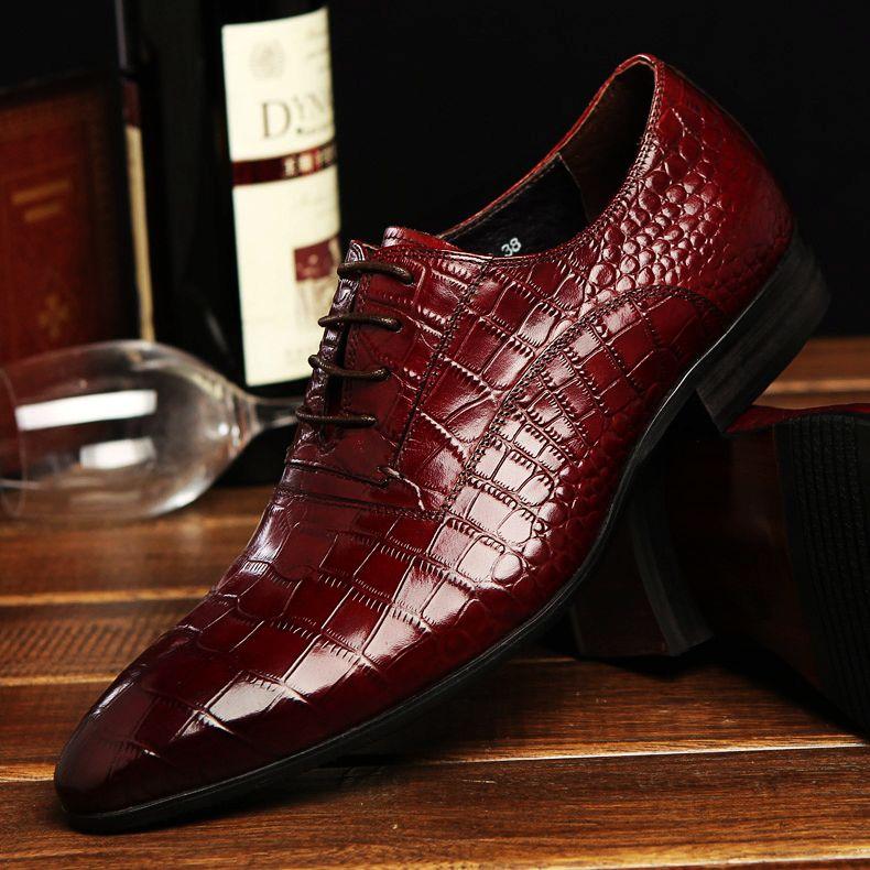 Chaussures Homme Crocodile Cuir en Cuir Chaussures Hommes