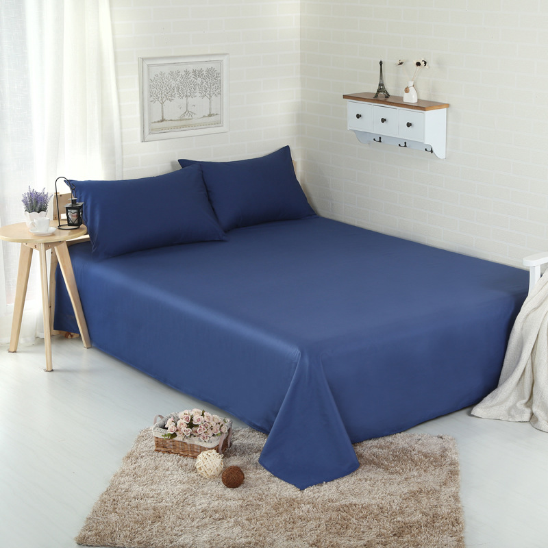 1pcs 40S 400TC100% Cotton twill flat sheet solid double bedsheet with good quality(China (Mainland))