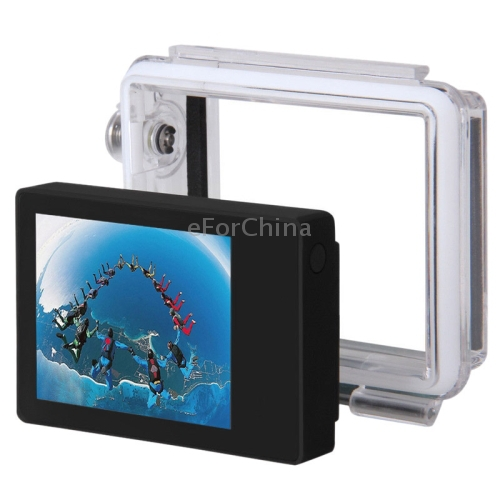 LCD External Display and Waterproof Back Housing for Gopro HD HERO 3+(China (Mainland))