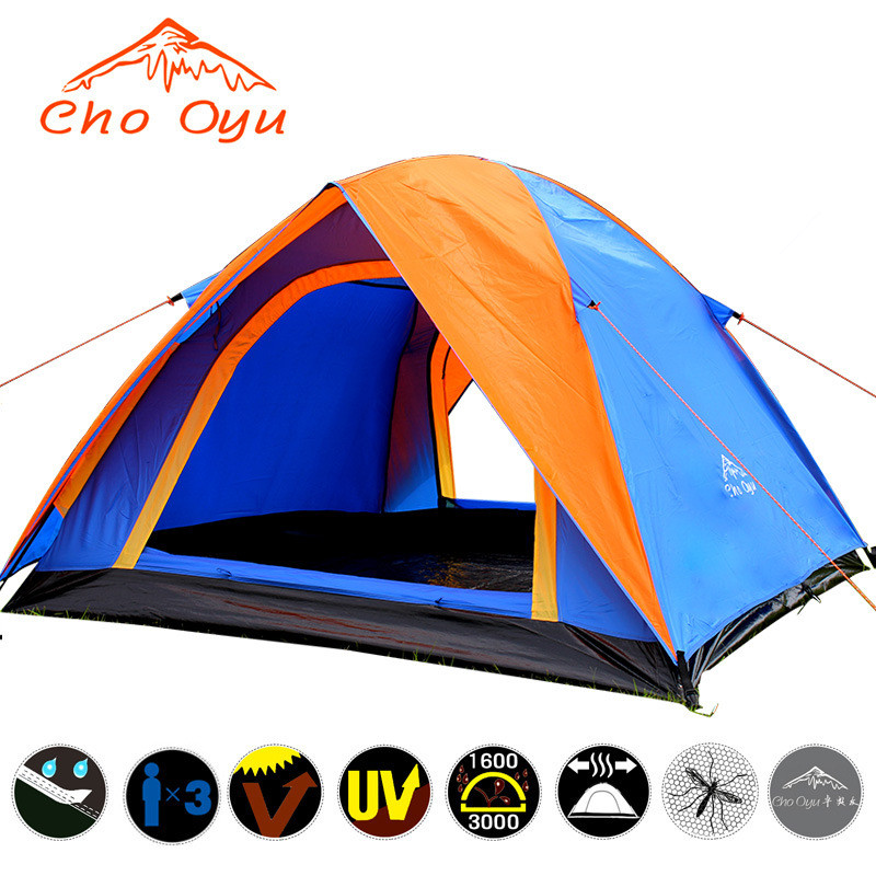Best Seller Outdoor Camping Fishing Tent Double Layer 3-4 Person Large Space Mosquito Net Tent Fast Shipping(China (Mainland))