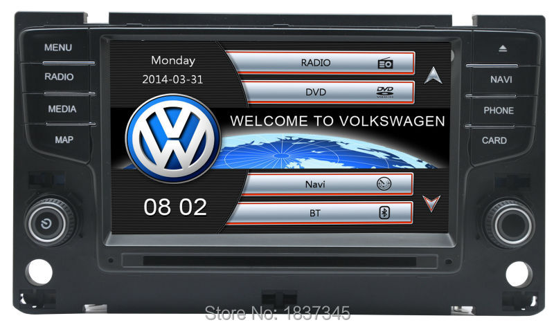 """7"""" 1DIN car stereo for vw golf 7 MK7 with gps,bluetooth,rds,sd,usd ,dvd,air condition,OPS ,Mirror Link function(China (Mainland))"""
