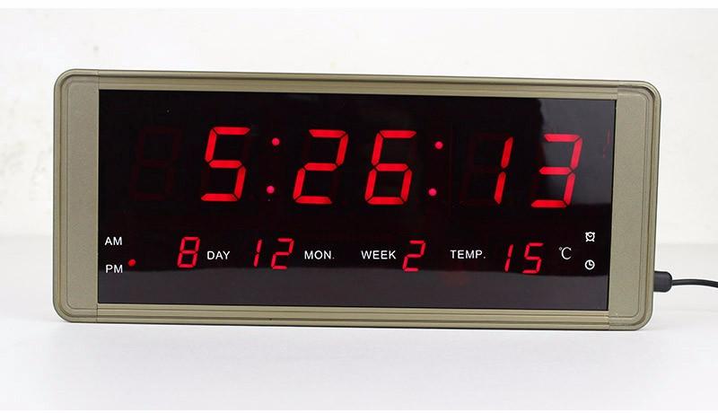 Ultra Large Display LED Digital Wall Clock Metal Case Plug For Free Frozen  Alarm Clock Led Electronic Table Clock Despertador   Us389