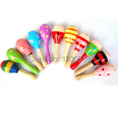 Free Shipping Percussion Musical Instrument Rattle Sand Hammer Infant Baby Kid Wooden Ball Toy FZ1264 TGHuZ(China (Mainland))