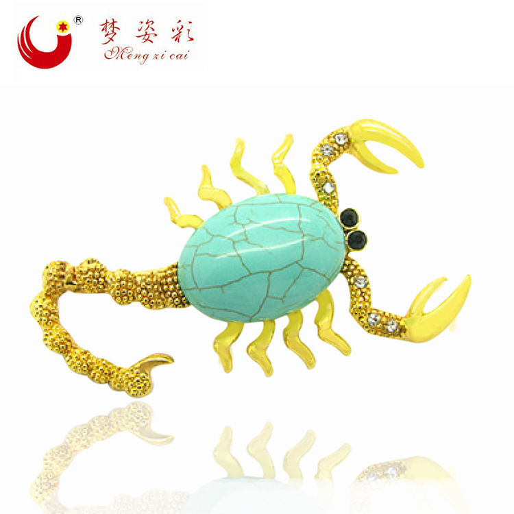 MZC Fashionable Scorpion Big Stone Brooches For Women Hip Hop Brooches for Suit Brosh Broche Famous Brand Jewelry(China (Mainland))